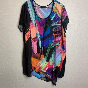Festive Colorful Printed Shirt 24W